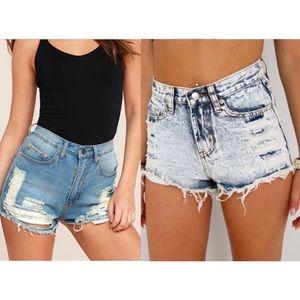 Pacsun & Forever 21 Jean Shorts Bundle